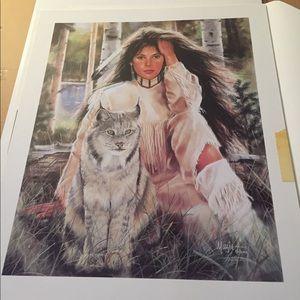 "Other - Signed print-""Feline Mischief"" by Maija"